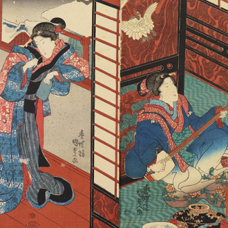 国貞 江戸姿八契 KUNISADA EIGHT VIEWS OF EDO FIGURES