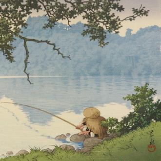 川瀬巴水 信州 松原湖 KAWASE, HASUI LAKE MATSUBARA, SHINSHU