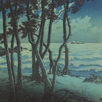 川瀬巴水 旅みやげ第三集 出雲日乃御碕 KAWASE, HASUI HINOMISAKI, IZUMO