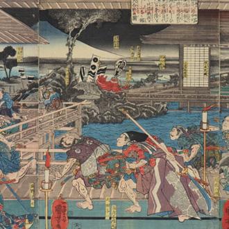 国芳 源平盛衰記 伊豆国山木合戦 KUNIYOSHI BATTLE OF YAMAKI IN IZU