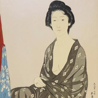橋口五葉 夏衣の女 HASHIGUCHI, GOYO WOMAN WEARING SUMMER KIMONO