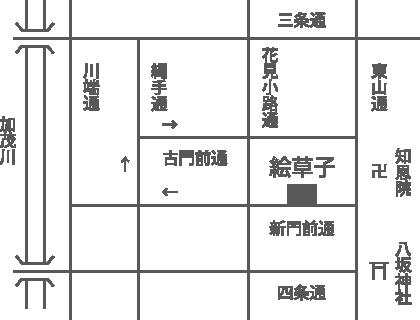 美術店絵草子 アクセスマップ