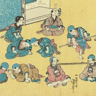 国芳 新板 子供あそびの芸以づくし KUNIYOSHI NEWLY PUBLISHED CHILDREN'S GAMES