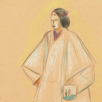 """山村耕花 「松風」万三郎 YAMAMURA, KŌKA """"MATSUKAZE"""" NOH PLAY BY MANZABURŌ"""