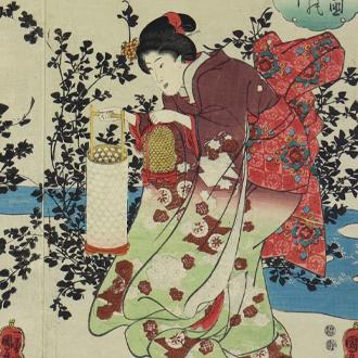 国芳 近江国 萩の玉川|KUNIYOSHI THE SIX JEWEL RIVERS OF NOJI IN ŌMI PROVINCE WITH BUSH CLOVER