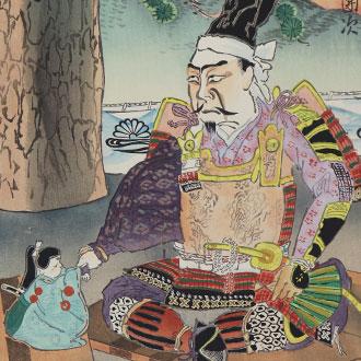 岡本一平 歌舞伎絵版画 第二 楠正成/市川左團次 OKAMOTO, IPPEI ICHIKAWA SADANJI