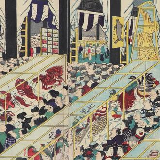 一景 博覧会諸人群集之図 元昌平坂ニ於テ|IKKEI LARGE CROWDS VISITING THE EXPOSITION AT MOTOSHOHEIZAKA