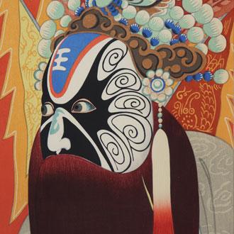 豊成(山村耕花)支那芝居 精忠伝星蛮龍 TOYONARI (YAMAMURA,KŌKA) BEIJING OPERA IN CHINA