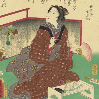 三代豊国 古今名婦傳 加賀の千代|TOYOKUNI-Ⅲ KAGA NO CHIYO : BIOGRAPHIES OF FAMOUS WOMAN OF ALL AGES