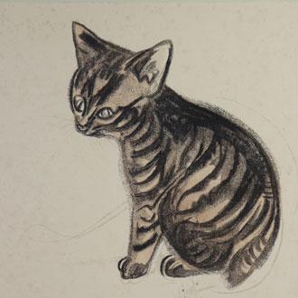 山村耕花 小猫 YAMAMURA,KŌKA SMALL CAT